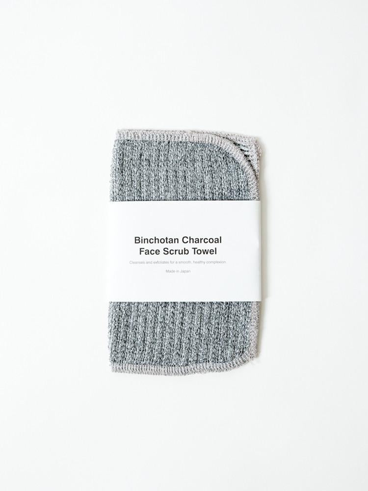 Binchotan Charcoal Face Scrub Towel design by Morihata
