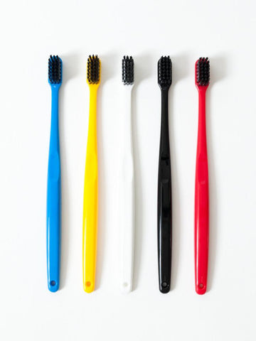 Binchotan Charcoal Standard Toothbrush in Black design by Morihata