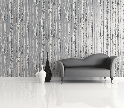 Birch Wallpaper from the Solaris Collection by Mayflower Wallpaper