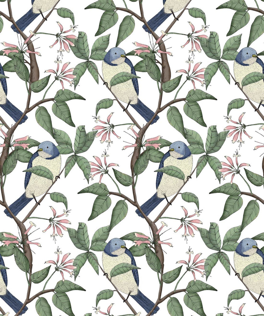 Sample Bird Spotting Wallpaper from the Wallpaper Republic Collection by Milton & King