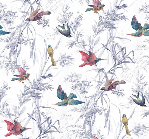 Birds Of Paradise Wallpaper in Mixed Berry from the Sanctuary Collection by Mayflower Wallpaper