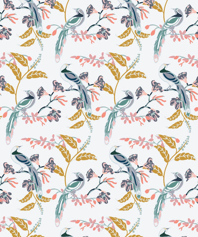 Birds Of Paradise Wallpaper in Tropical from the Wallpaper Republic Collection by Milton & King