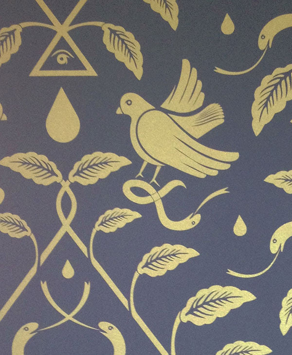 Sample Birds of Paradigm Wallpaper in Cairo by Cavern Home