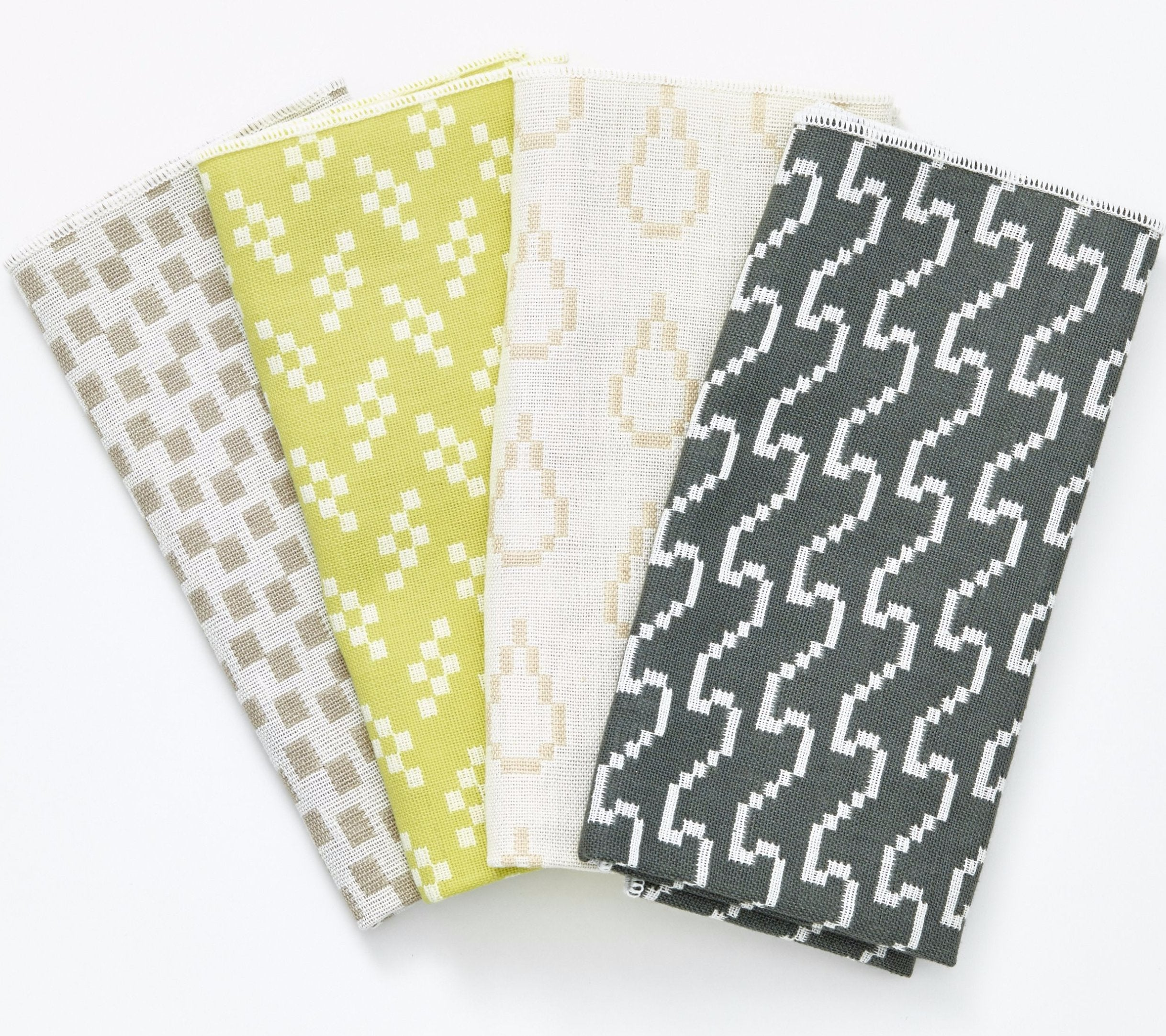 Set of 4 Bitmap Textiles Napkins in Various Colors design by Areaware
