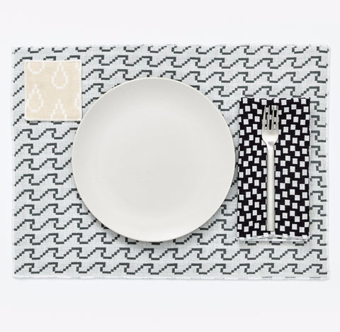 Set of 4 Bitmap Textiles Placemats in Various Colors design by Areaware