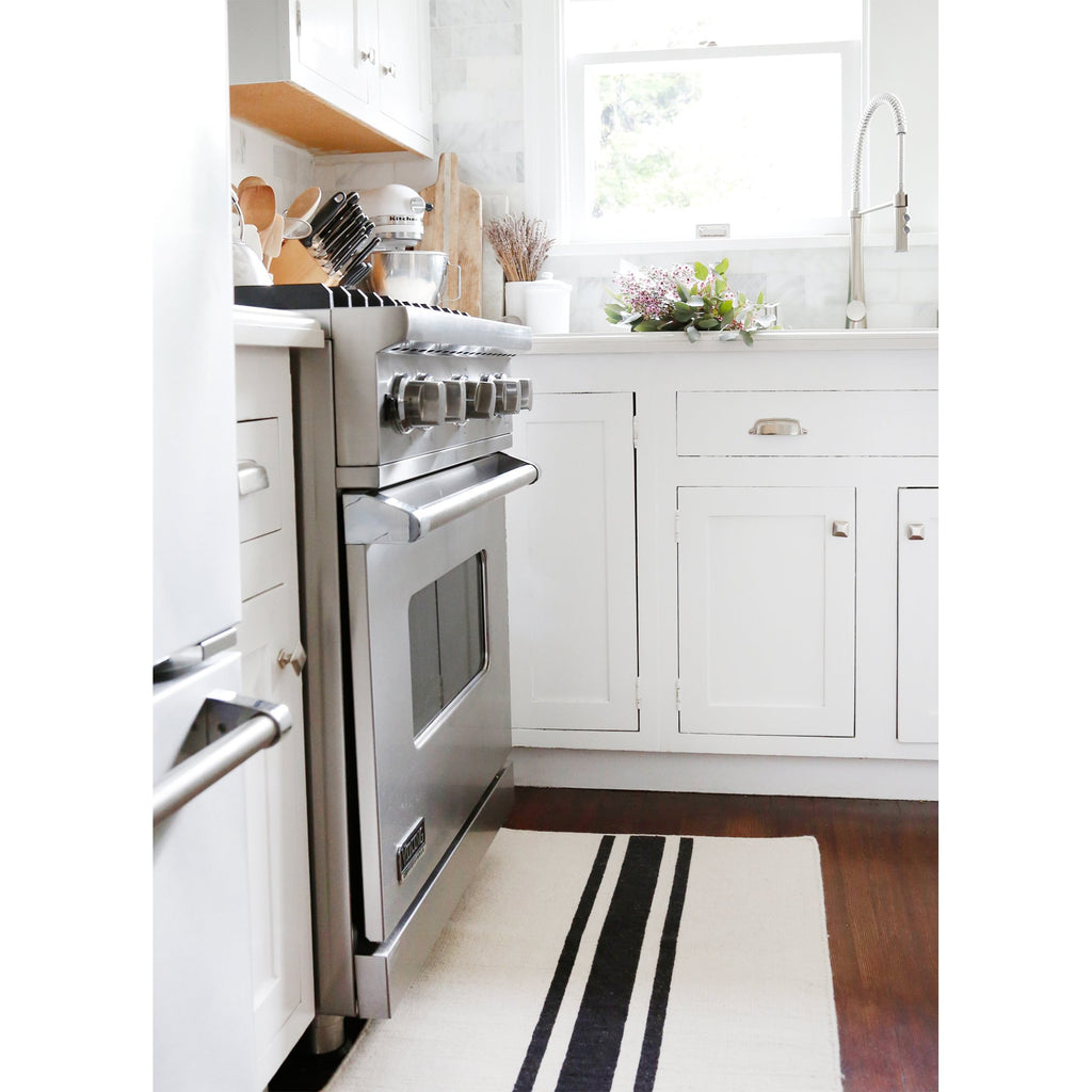 Beachwood Handwoven Rug in Ivory and Black in multiple sizes by Pom Pom at Home