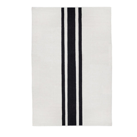 Beachwood Handwoven Rug in Ivory and Black in multiple sizes