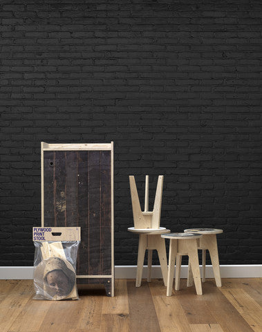 Black Brick Wallpaper Design By Piet Hein Eek For Nlxl
