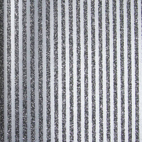 Black Glitter Stripes Wallpaper by Julian Scott Designs
