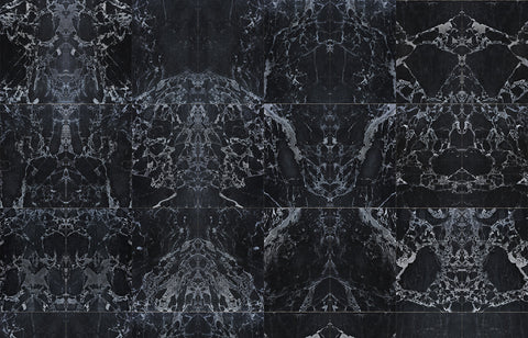 Sample Black Marble Wallpaper design by Piet Hein Eek for NLXL Wallpaper