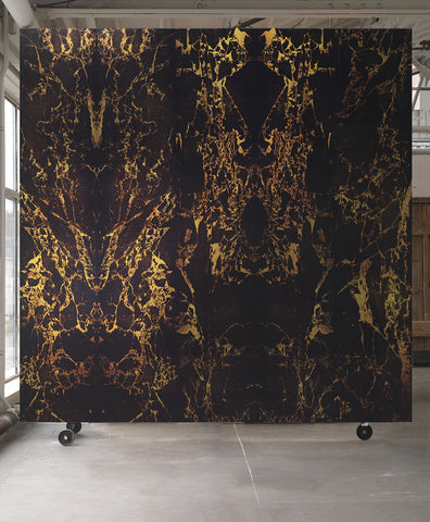 Black Metallic Marble Wallpaper design by Piet Hein Eek for NLXL Wallpaper