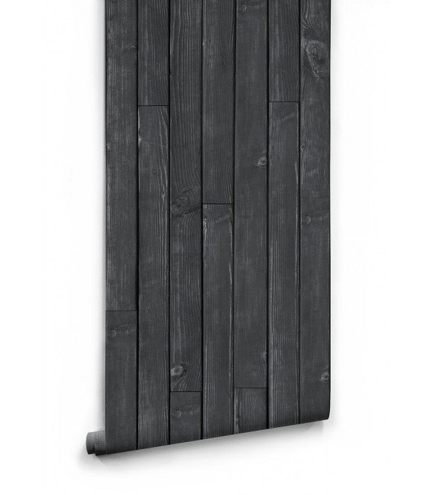 Sample Black Wooden Boards Wallpaper design by Milton & King
