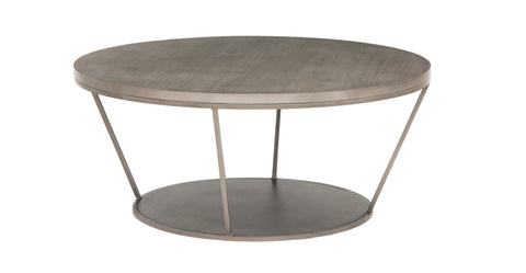 Blair Round Coffee Table in Tarnished Silver design by Redford House