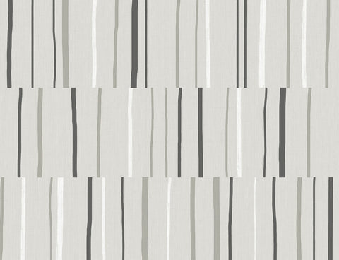 Block Lines Wallpaper in Warm Stone from the Living With Art Collection by Seabrook Wallcoverings