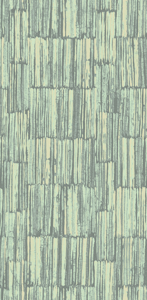 Sample Blocked Texture Wallpaper in Meadow from the Nouveau Collection by Wallquest