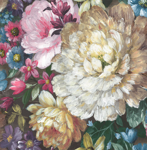 Blooming Floral Peel-and-Stick Wallpaper in Multi by NextWall