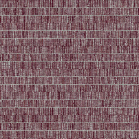Blue Grass Band Grasscloth Wallpaper in Pink Pomona from the More Textures Collection by Seabrook Wallcoverings