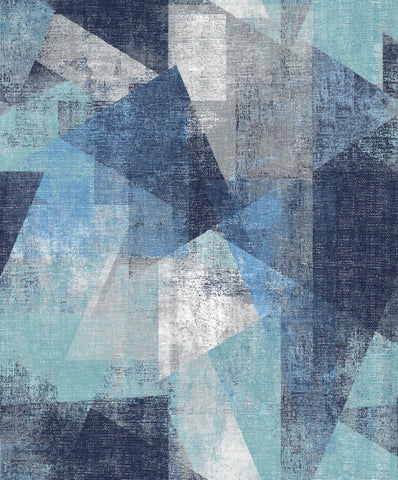 Sample Blue Urban Pop Wallpaper by Walls Republic