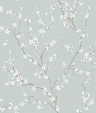 Blue Cherry Blossom Peel & Stick Wallpaper by RoomMates for York Wallcoverings