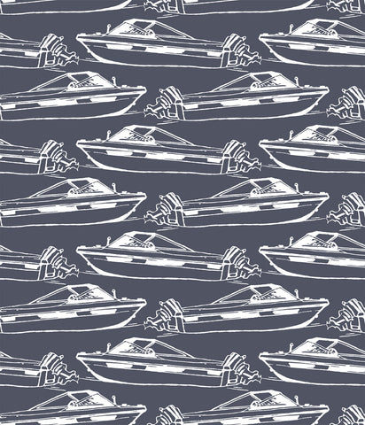Boating Wallpaper in Pebble design by Aimee Wilder