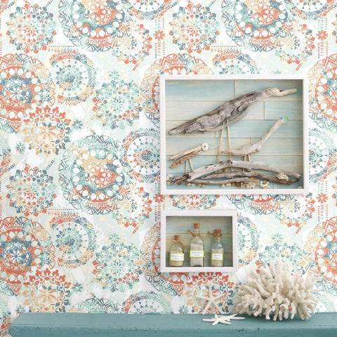 Bohemian Peel & Stick Wallpaper by RoomMates for York Wallcoverings