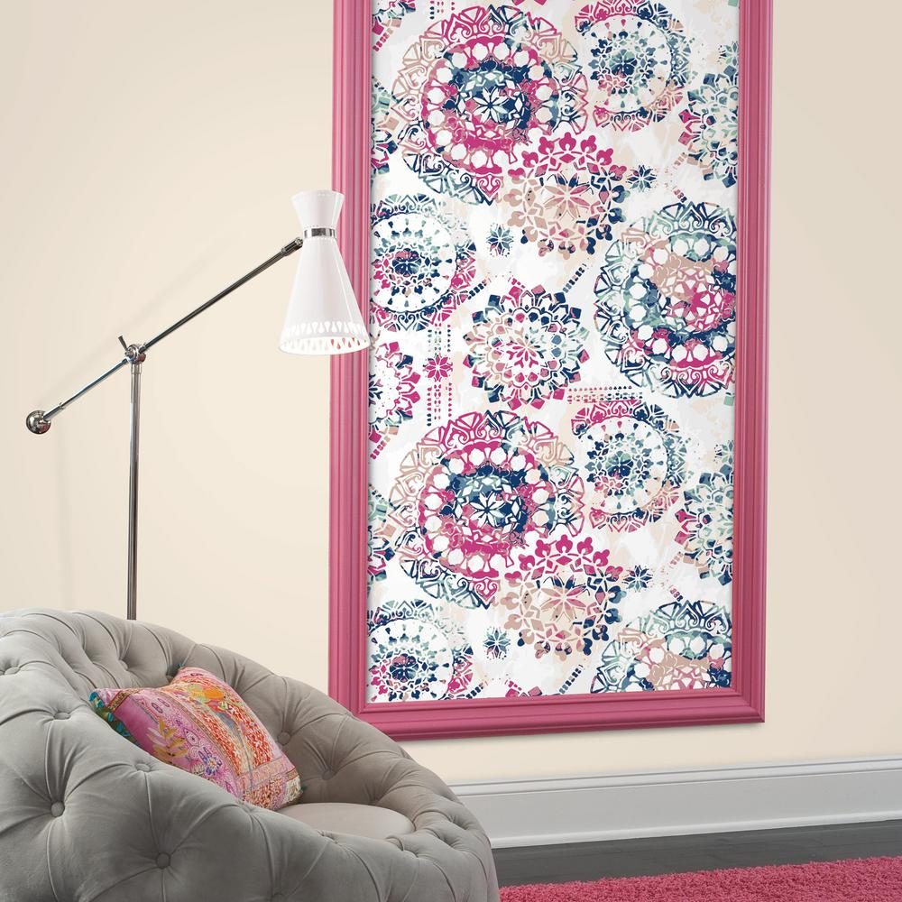 Bohemian Peel Stick Wallpaper In Pink And Blue By Roommates For York Burke Decor