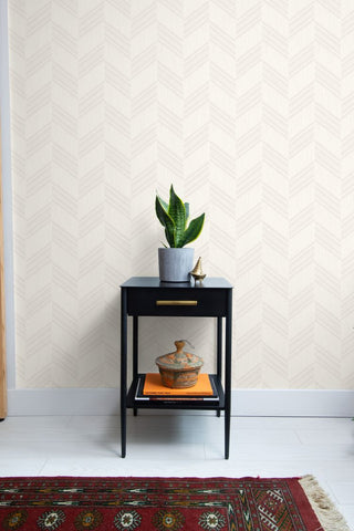 Boho Chevron Stripe Wallpaper from the Boho Rhapsody Collection by Seabrook Wallcoverings