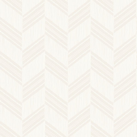 Boho Chevron Stripe Wallpaper in Grey Mist and Ivory from the Boho Rhapsody Collection by Seabrook Wallcoverings