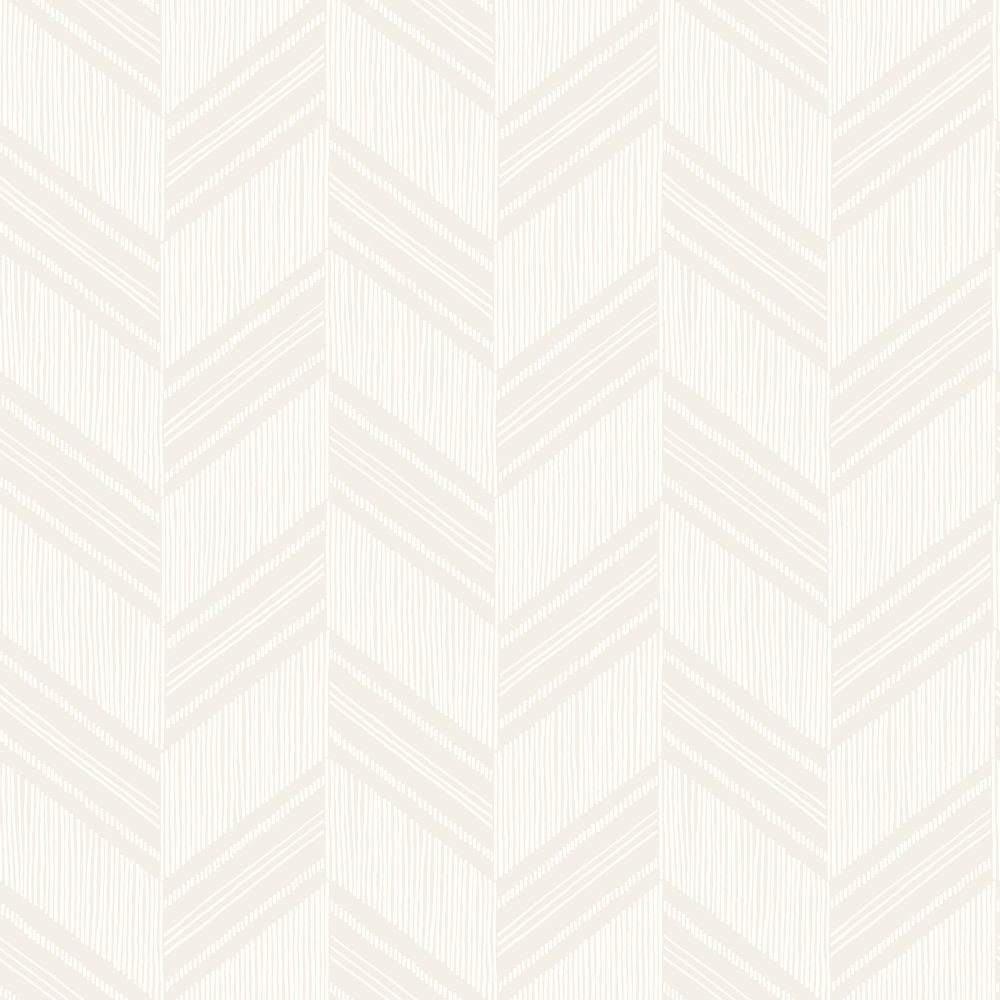 Sample Boho Chevron Stripe Wallpaper in Grey Mist and Ivory from the Boho Rhapsody Collection by Seabrook Wallcoverings