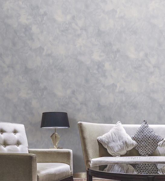 Bonfire Wallpaper in Lilac and Cream from the Transition Collection by Mayflower