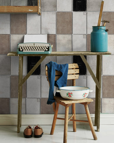 Book Covers Wallpaper in Neutral from the Eclectic Collection by Mind the Gap