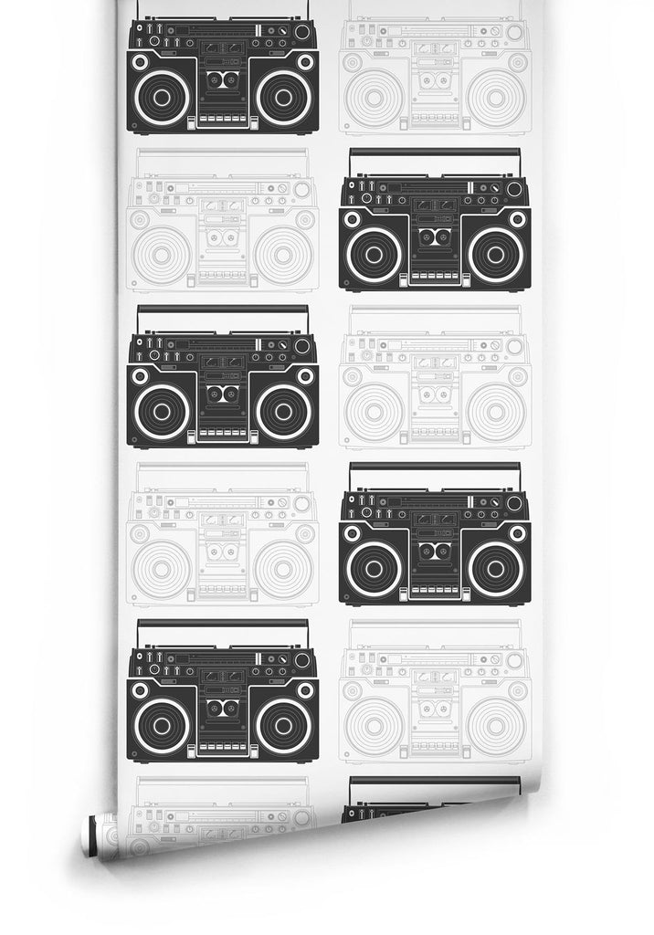 Boom Box Wallpaper by Muffin & Mani for Milton & King