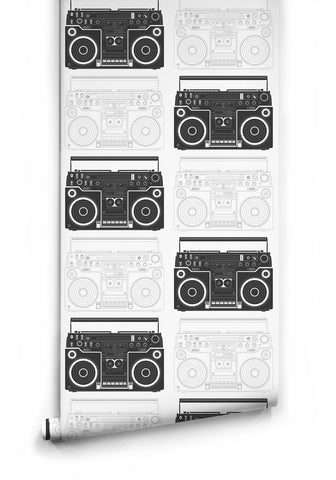 Sample Boom Box Wallpaper by Muffin & Mani for Milton & King