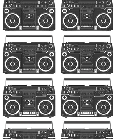 Boom Box Wallpaper in Solid from the Muffin & Mani Collection by Milton & King