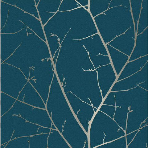 Boreas Wallpaper in Teal from the Exclusives Collection by Graham & Brown