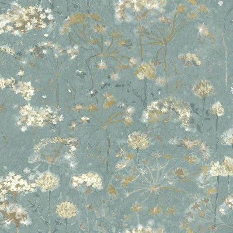 Botanical Fantasy Wallpaper in Blue from the Botanical Dreams Collection by Candice Olson for York Wallcoverings