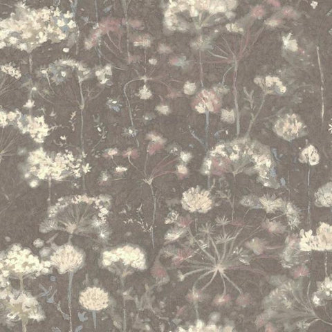 Botanical Fantasy Wallpaper in Dark Grey from the Botanical Dreams Collection by Candice Olson for York Wallcoverings