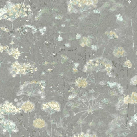 Botanical Fantasy Wallpaper in Grey from the Botanical Dreams Collection by Candice Olson for York Wallcoverings