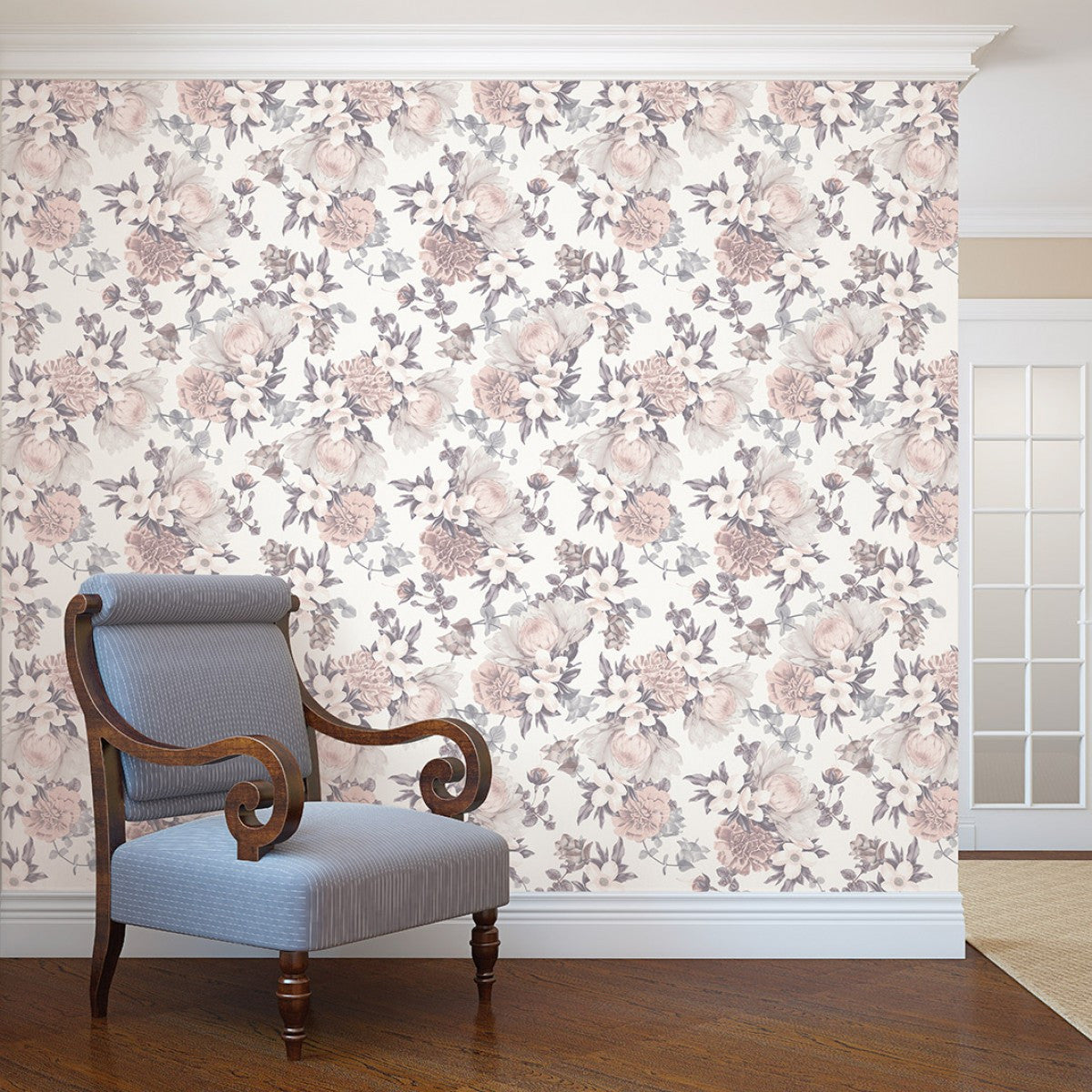Adhesive Wall Paper botanical self adhesive wallpaper in blossom designtempaper