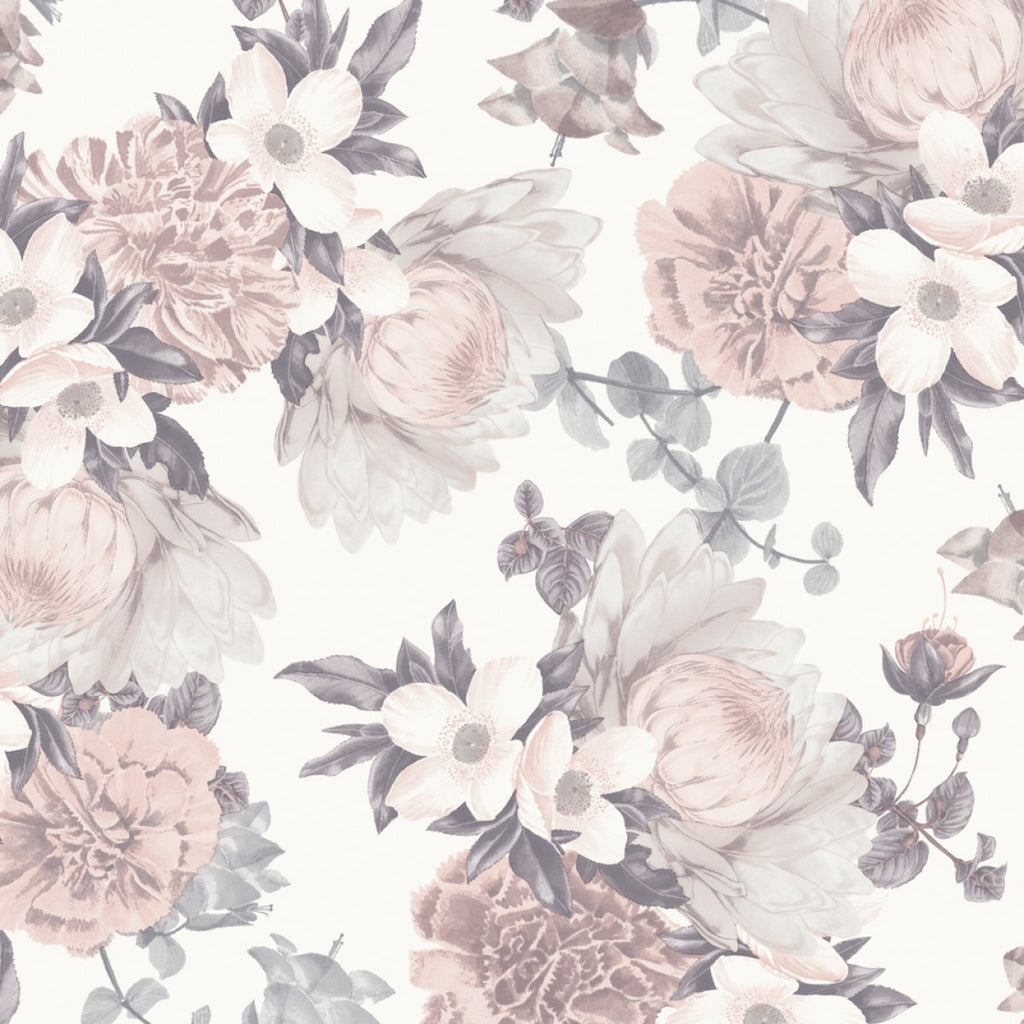 Sample Botanical Self Adhesive Wallpaper in Blossom design by Tempaper