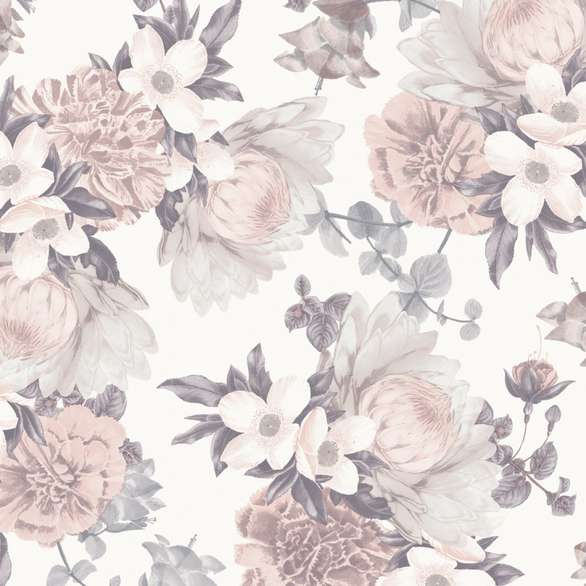 Botanical Self Adhesive Wallpaper In Blossom Design By