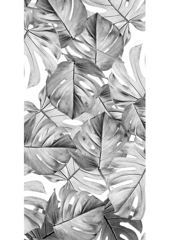 Botanical Wallpaper Monstera Grey by KEK Amsterdam