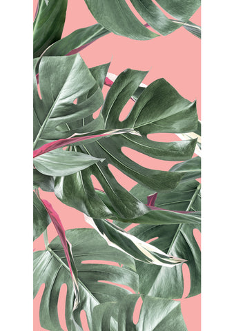 Botanical Wallpaper Monstera Pink by KEK Amsterdam