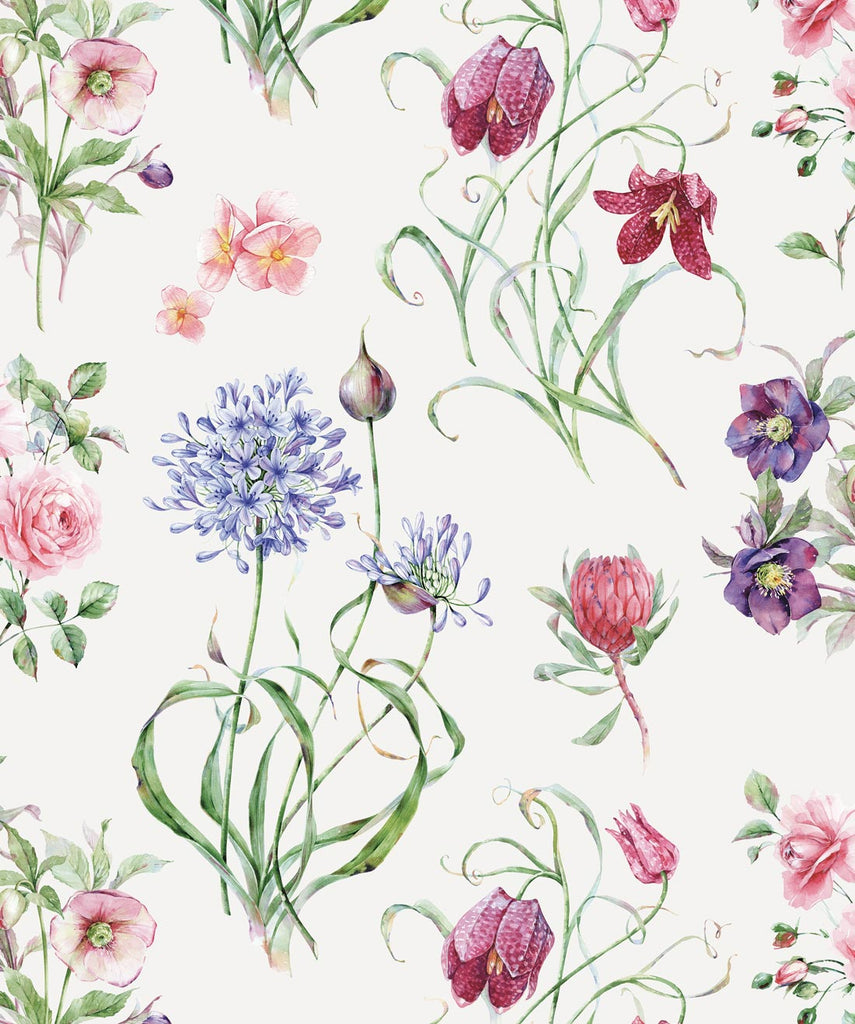 Sample Botanical Wallpaper from the Wallpaper Republic Collection by Milton & King