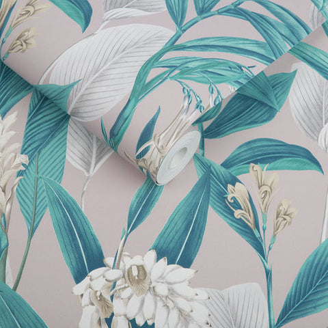 Botanical Wallpaper in Dusk from the Exclusives Collection by Graham & Brown