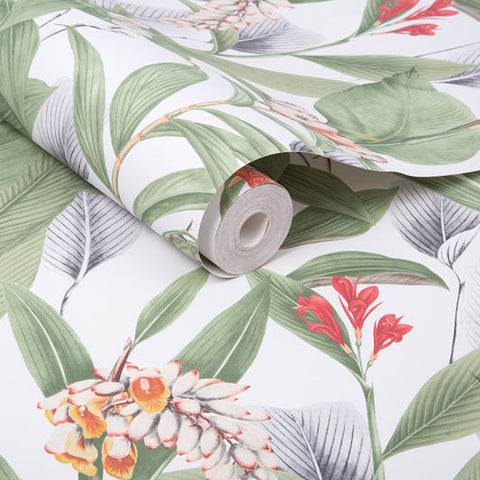 Botanical Wallpaper in Powder from the Exclusives Collection by Graham & Brown