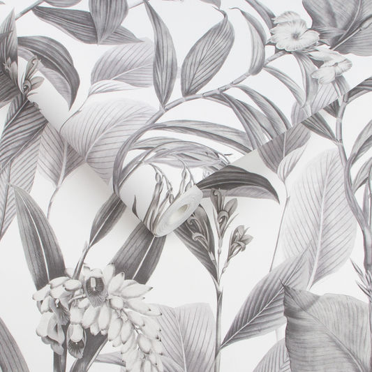 Botanical Wallpaper in Shadow from the Exclusives Collection by Graham & Brown