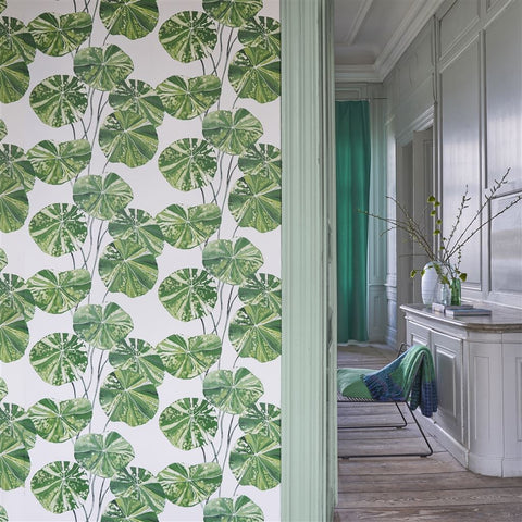 Brahmi Wallpaper in Leaf from the Zardozi Collection by Designers Guild