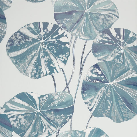 Brahmi Wallpaper in Teal from the Zardozi Collection by Designers Guild