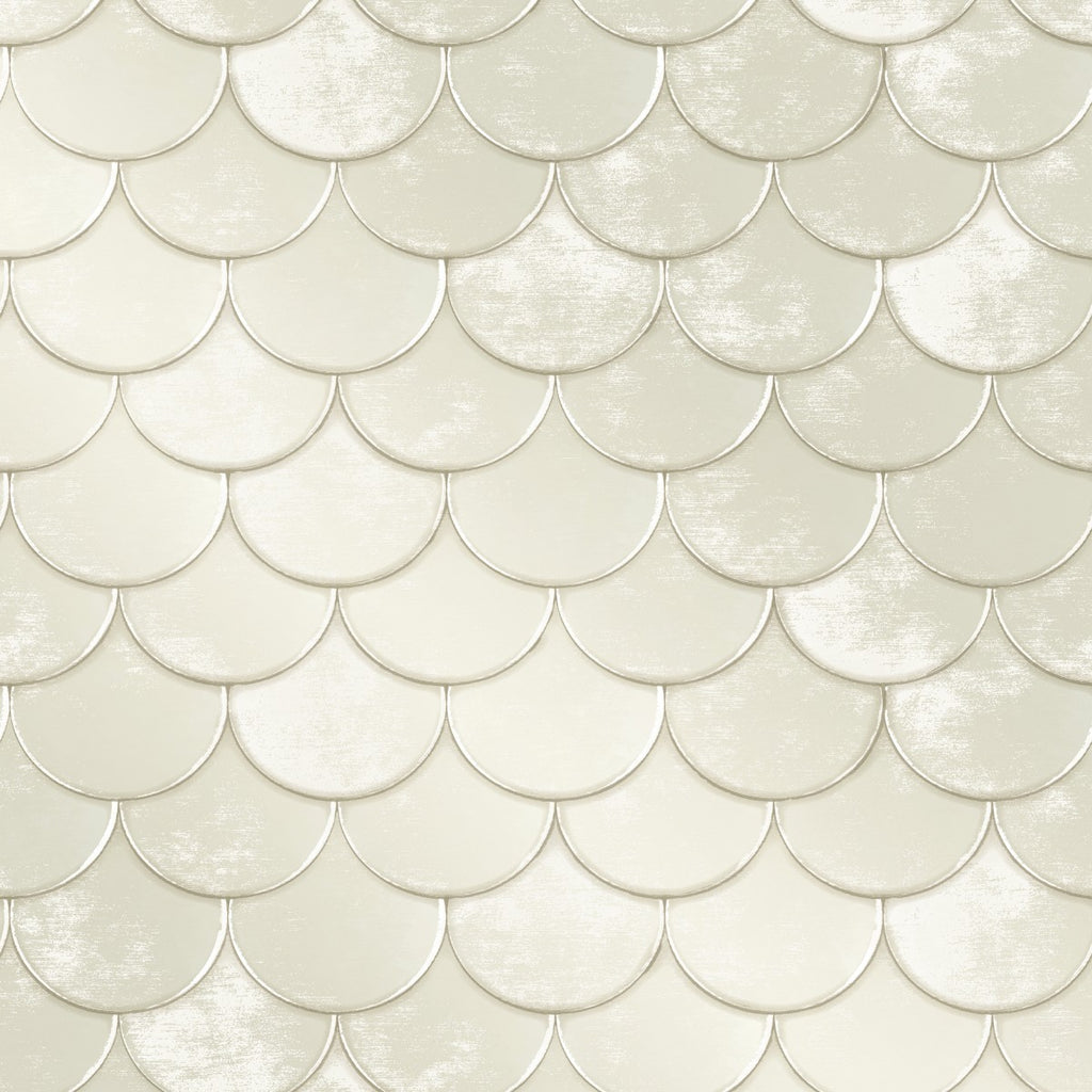 Brass Belly Self-Adhesive Wallpaper in Pearl by Genevieve Gorder for Tempaper